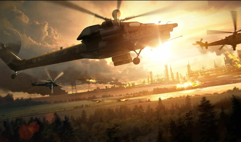 wallpapers, wallpaper, hd, скачать, авиация, вечер, монитора, ми, экрана, похожие, vehicles, вертолет, номером, взрывы, helicopters,