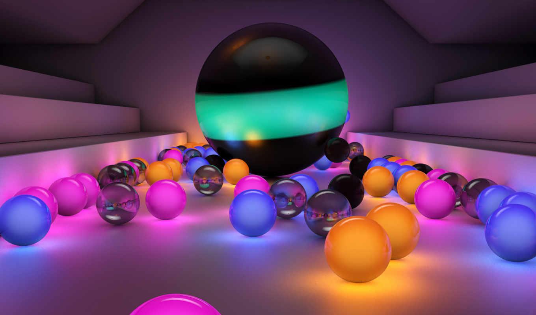 шары, светящиеся, разноцветные, картинка, кнопкой, смотрите, правой, картинку, свет, цветные,