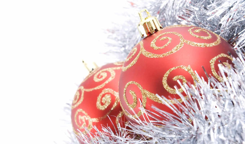 новогодние, шары, год, мишура, новый, белый, игрушки, подарки, смотрите, заставки, елочные,