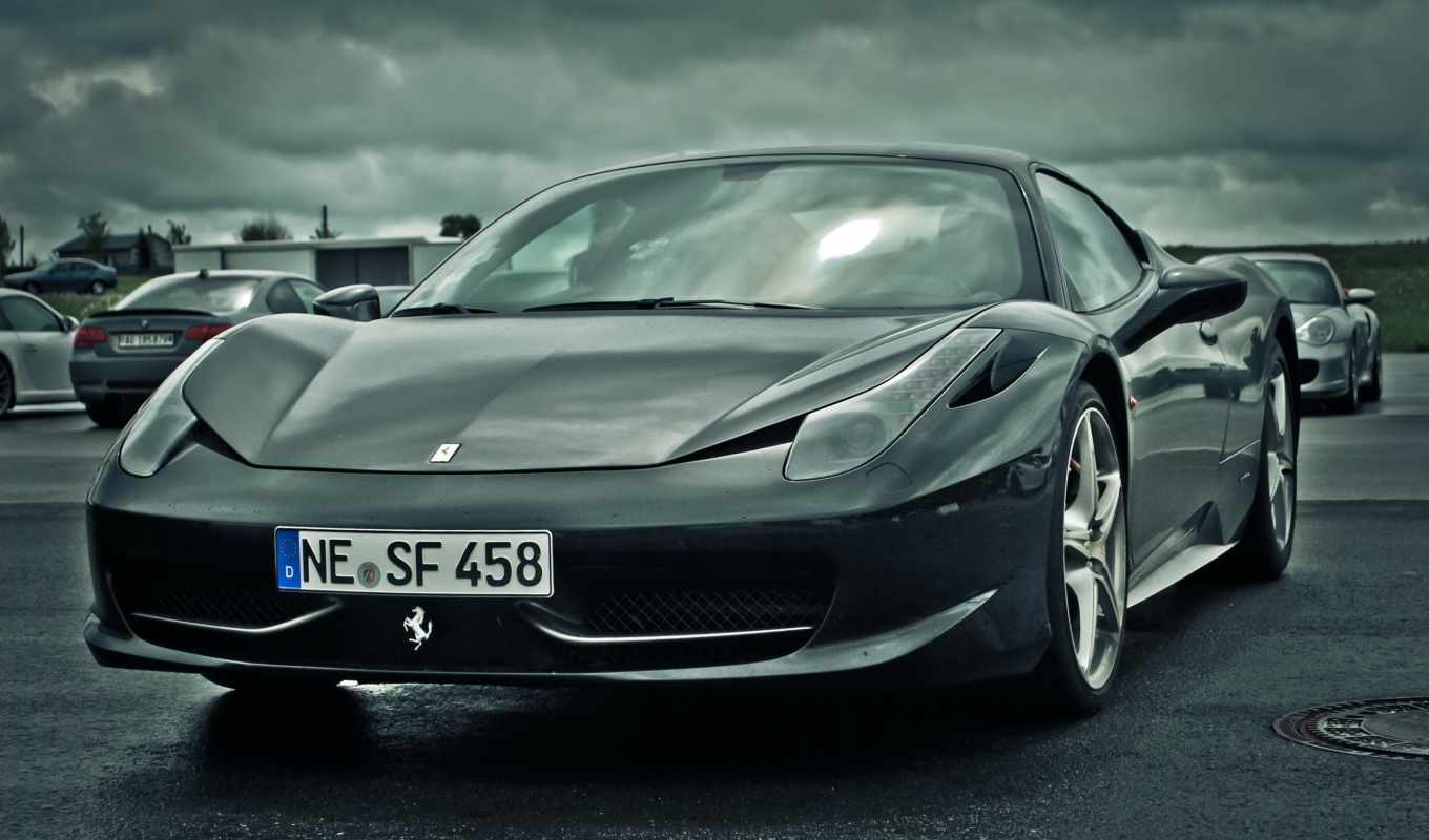 ferrari, italia, black, year, over, ago,