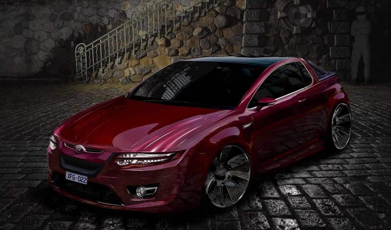 ,ford, вишневый, машина,