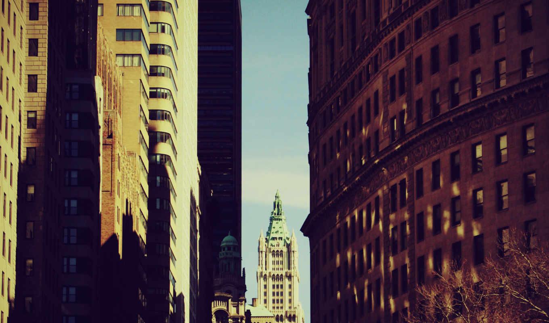 дек, нью, город, new, york,