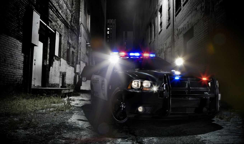 dark, car, аллея, police, charger, pixel, images, views,
