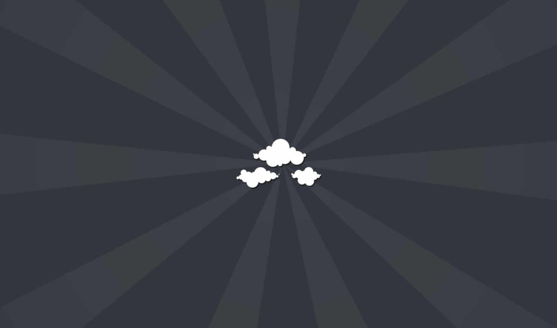 облака, минимализм,