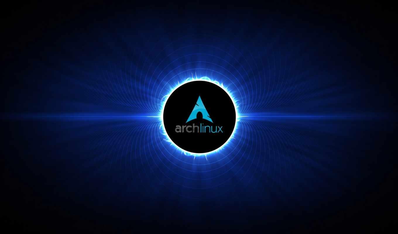 arch, linux, dark, blue, logo