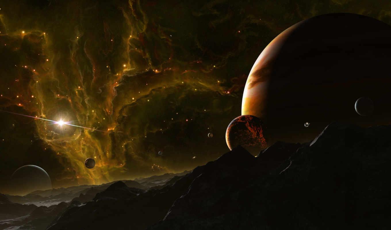 космос, пейзажи, вид, земля, планеты, планета, звёзды, звезда,