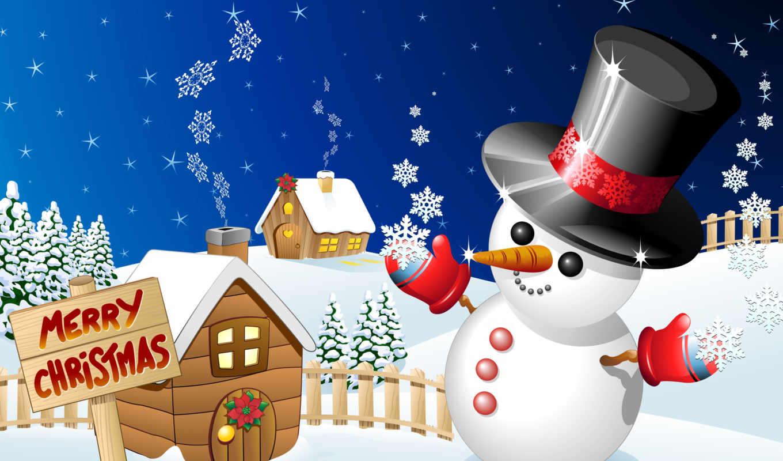 снеговик, красивый, winter, снеговики, new, год, красивые, графика, christmas, рождественские, праздник,