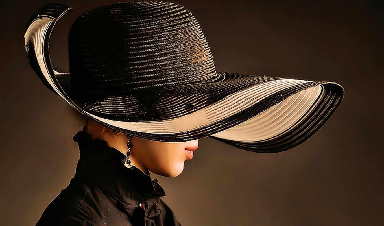 девушка, шляпа, стиль, женские, шляпе, шляпы,
