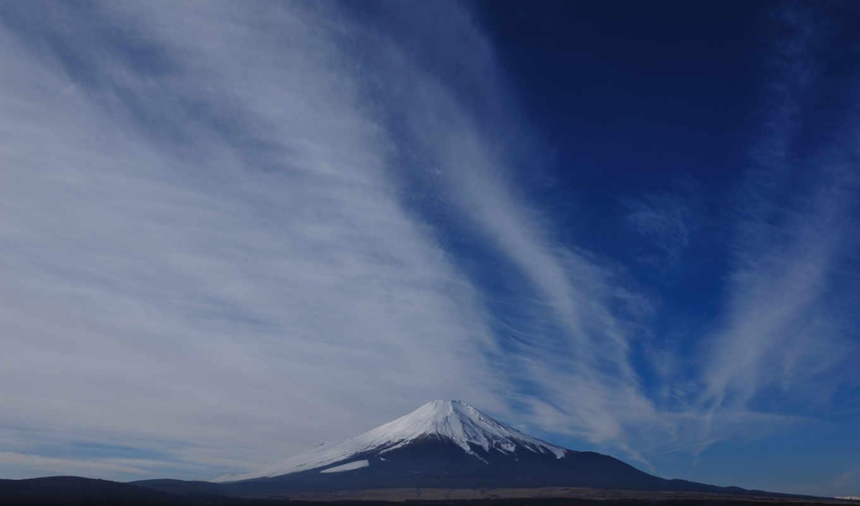 пейзаж, фудзи, фудзияма, облака, гора, горизонт, небо, frases, refranes,