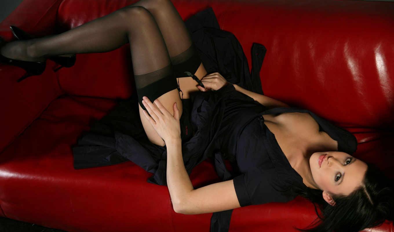 high, девушки, stockings, эротические, голые, heels, red, девушка,