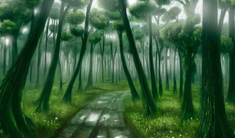 лес, фэнтези, деревья, фея, без, регистрации, дорога,