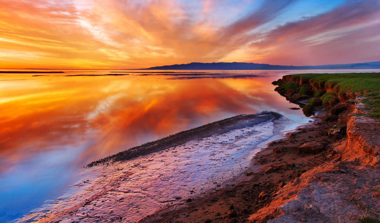 красивые, природа, пейзажи -, море, ocean, берег,