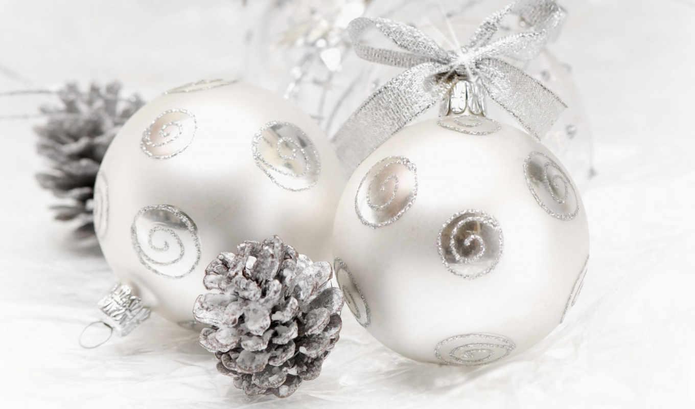 шары, шишка, год, новый, christmas, бантик, бантики, серебристые, картинка, новогодние, картинку, sbornik, desktop, divisori,