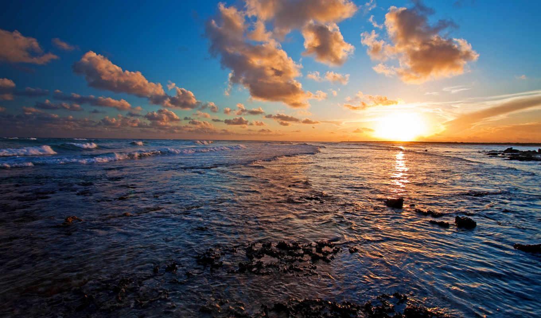 красивые, закаты, солнца, февр, закат,