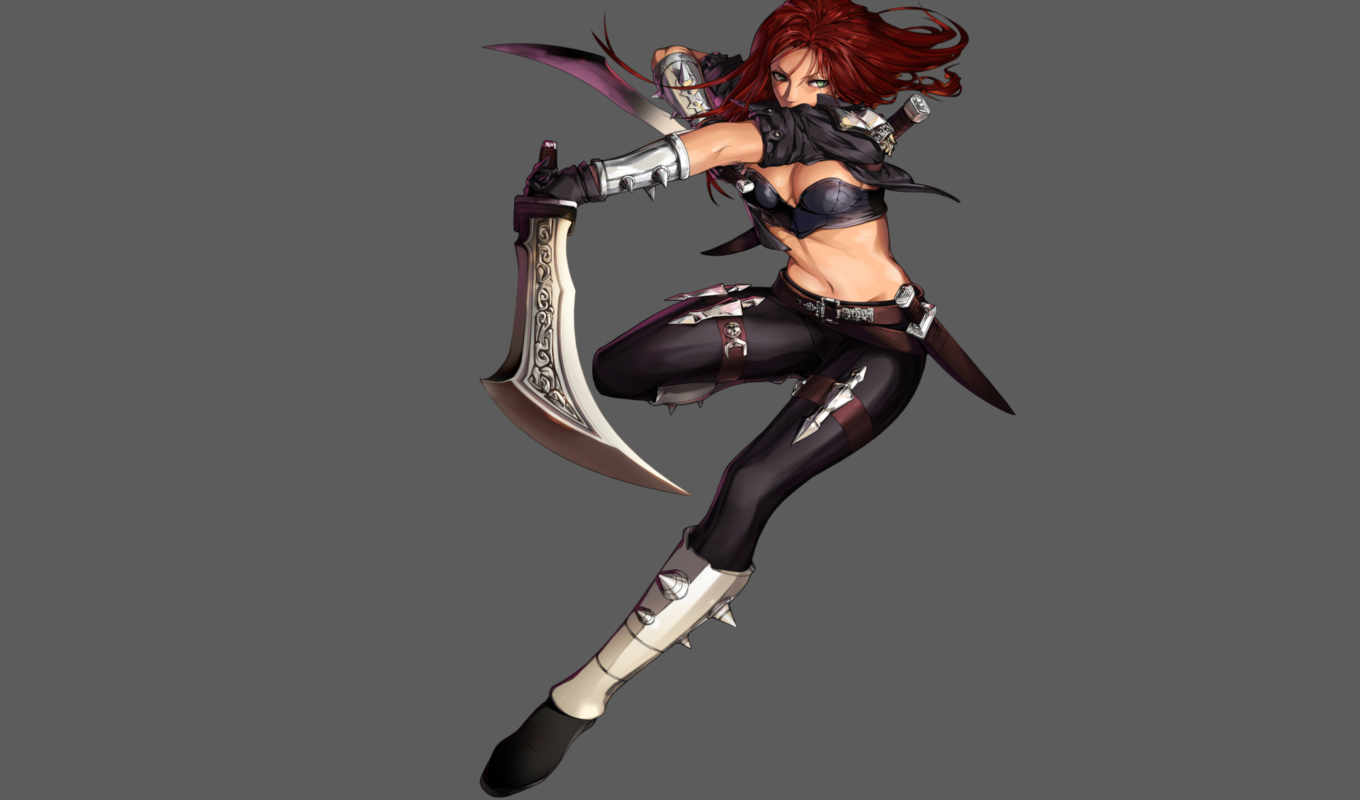 katarina, artwork, art, league, legends,
