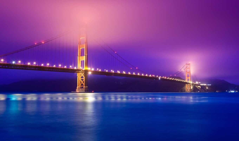 sana, francisco, gate, золотые, золотистый, мост, full, свет, пейзаж,