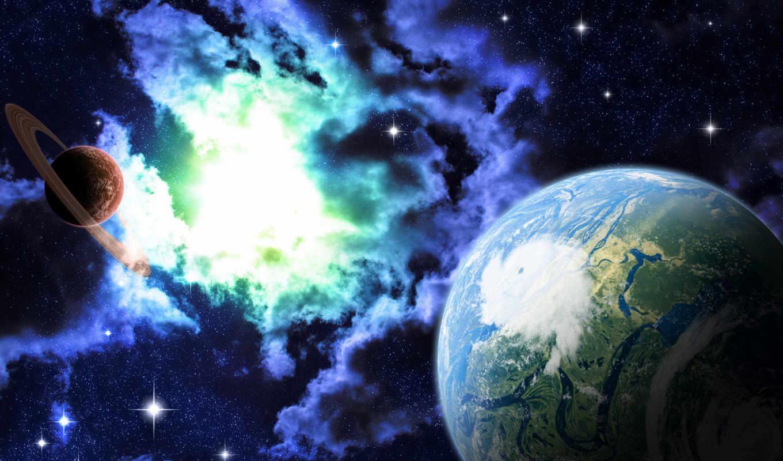 space, digital, чтобы, art, картинку, размере, планеты, космоса, обоями, просмотреть, реальном, её,