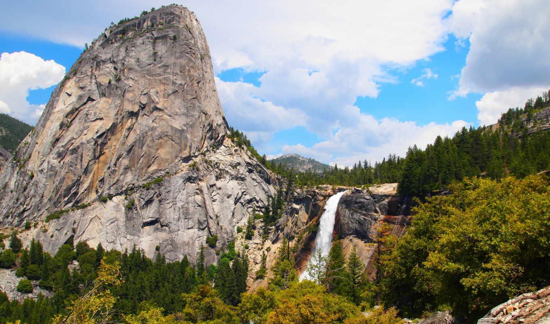 природа, парки, сша, yosemite, водопады, калифорния, landscape, cliff, реки, горы,