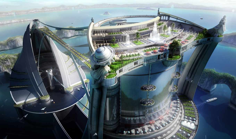 будущего, город, города, будущее, gate, world, красная, метки,