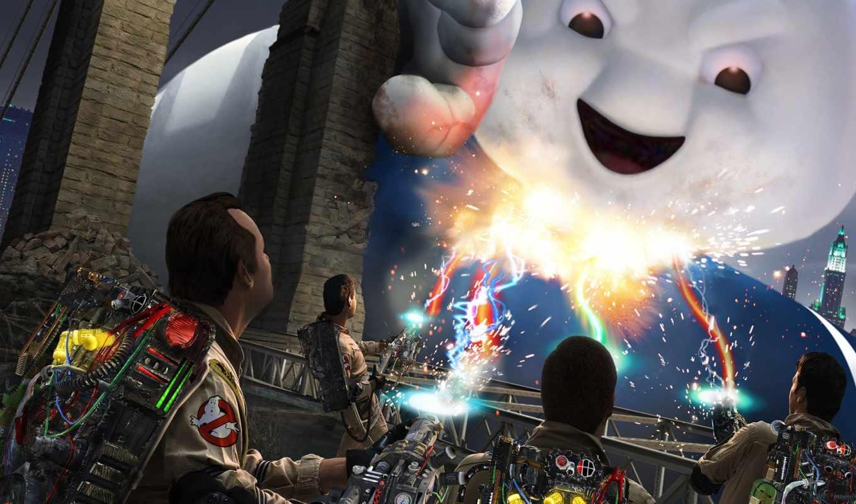 ghostbusters, game, video, за, охотники, приведениями, игры, ghostbuster, зефирный, человек, download, кнопкой, привидениями,