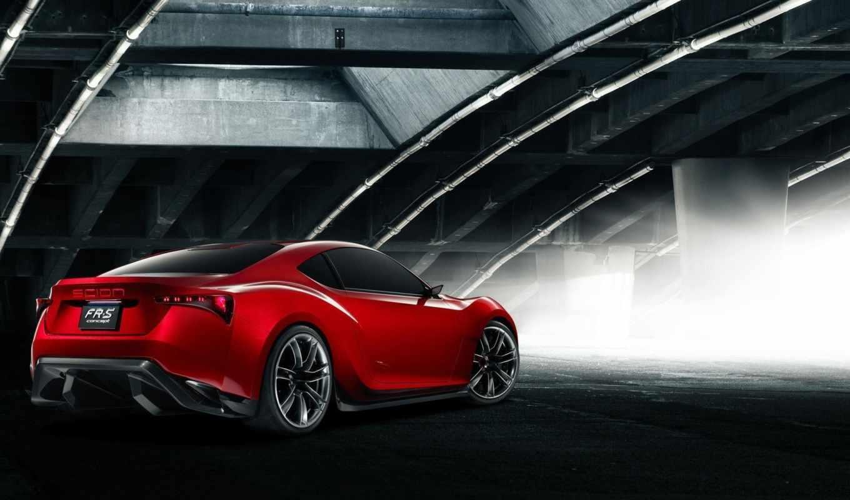 scion, concept, rear, coupe, side,