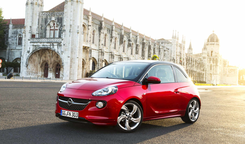 opel, adam, front, angle, красный, автомобили, машины, авто, улица, picture,