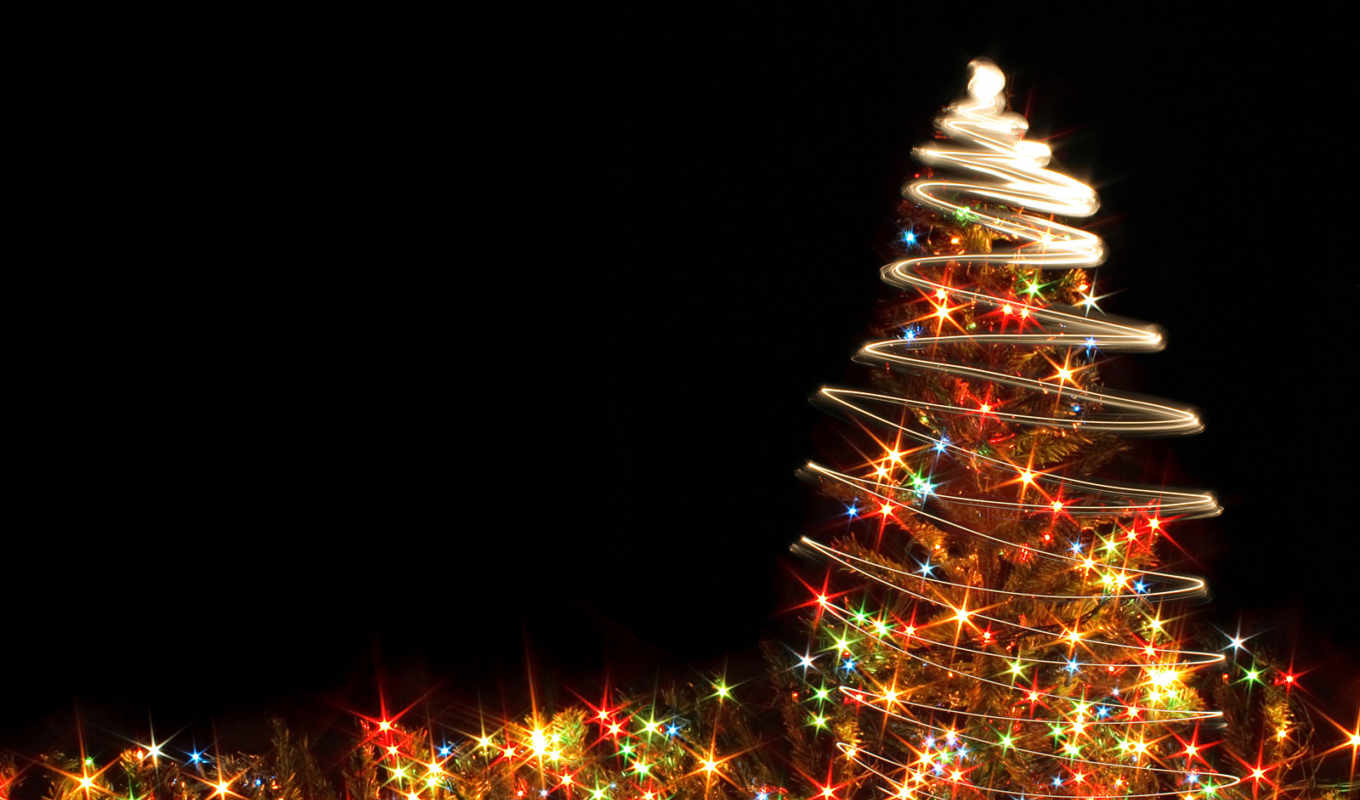 christmas, tree, desktop, год, lights, новый, glowing, click, pine, free, right, groovy,
