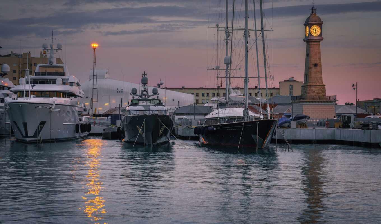 marine, watch, лодка, design, water, architecture, тематика, hour, порт