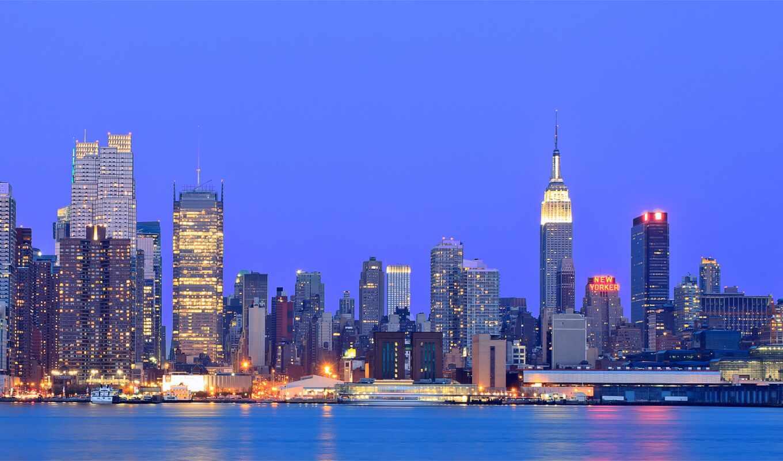 park, york, ан, нью, new, взгляд, город, building, храм, крыша