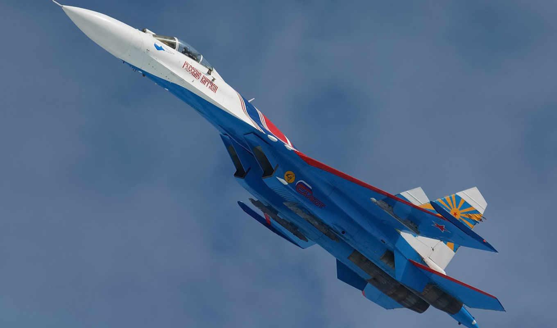 ,Су-27, самолет, полет,небо,