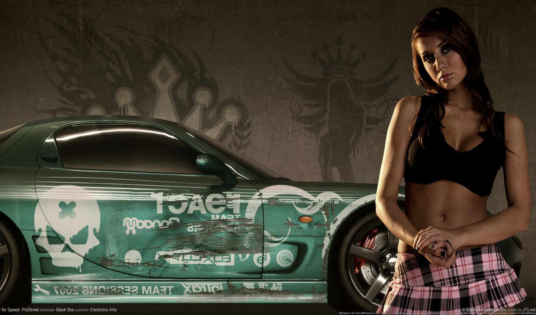 девушка, girls, скорость, need, nfs, prostreet, улица, pro, машина,