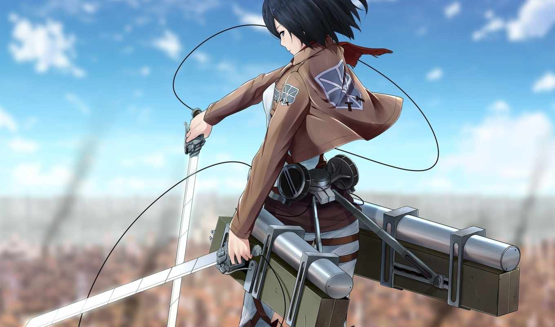 anime, titan, attack, invasion, гигантов, shingeki, ackerman, mikasa, kyojin,