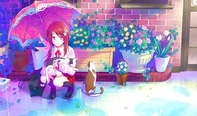 музыка, anime, тян, кот, art, волосы, video, исцеление, piano, кошки,