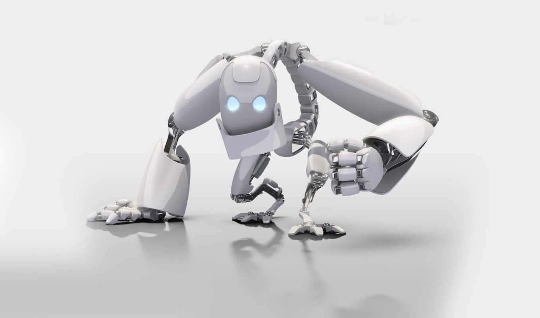 фона, графикой, трехмерной, robots,