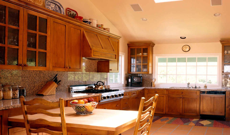 кухни, интерьер, красивый, интерьера, дизайн, стиле,