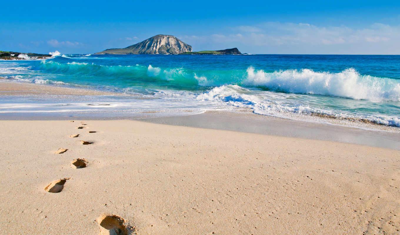 ocean, пляж, тихий, pacific, острова, hawaii,