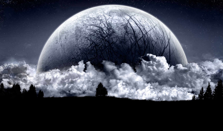 tapety, księżyc, chmury, tapet, horyzont, pulpit, telefon, tapeta, znajdziesz, ponad,