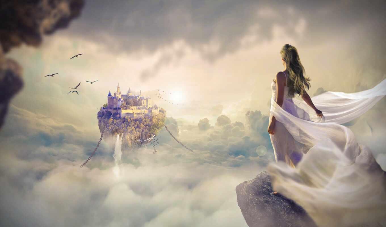 ,, небо, облако, computer wallpaper, cg artwork, стоковая фотография, девушка, фантазия, high fantasy, fantastic art, witches and warriors, магия, pixabay,