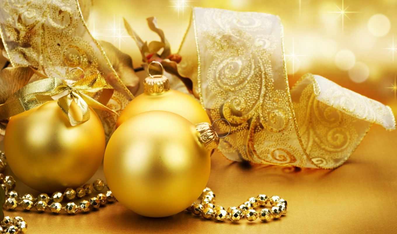 christmas, шары, golden, новый, праздник, елочные, украшения, золотые, gold, елку, год, globes, картинку,