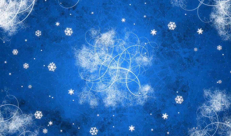 год, новый, узоры, синий, завитки, снежинки, download,