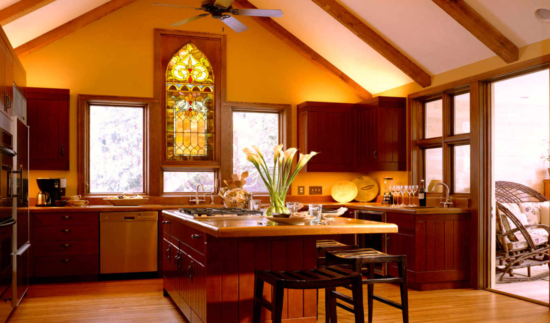 kitchen, интерьер, classy, design, домашний, windows,