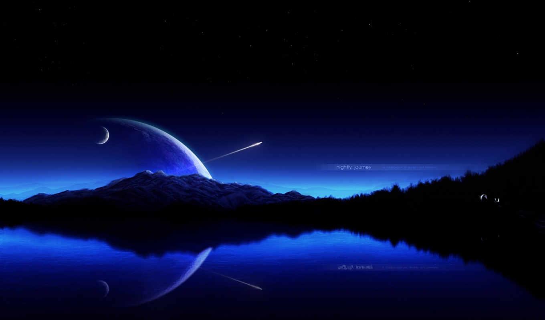 ночь, небо,