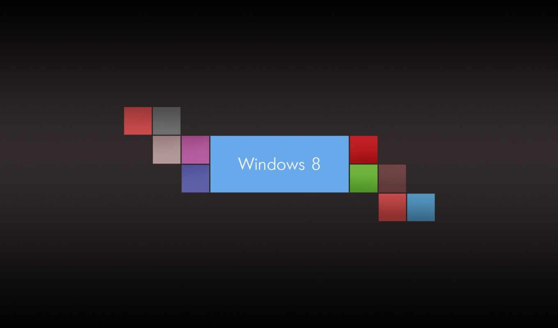 windows, eight, лого, квадрат, разноцветный