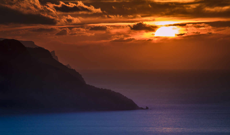 закат, ocean, free, пляж, desktop,