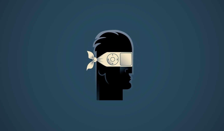 человек, медиа, голова, повязка, плеер, загрузка, картинка, иллюстрации, illustrations, john, tomac,