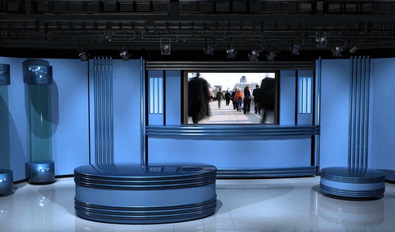 диван, комната, синее, студия, синяя, картинка,