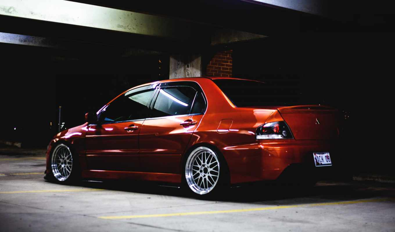 lancer, evolution, evo, mitsubishi, тюнинг, low, mitshubishi, orange,