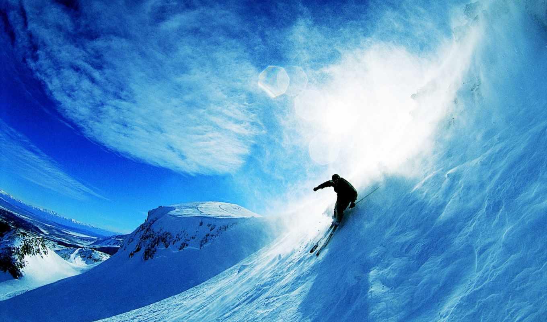 skiing, снег, sports, desktop,