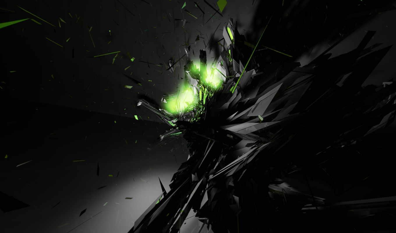 desktop, bang, разделе, abstract, свет, осколки,