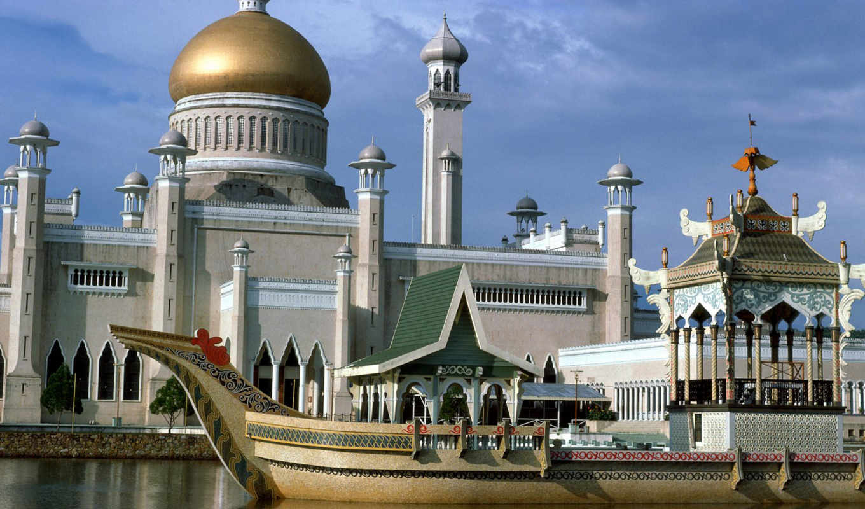 brunei, mosque, begawan, seri, bandar, omar, saifuddin, ali, лумпур, куала,